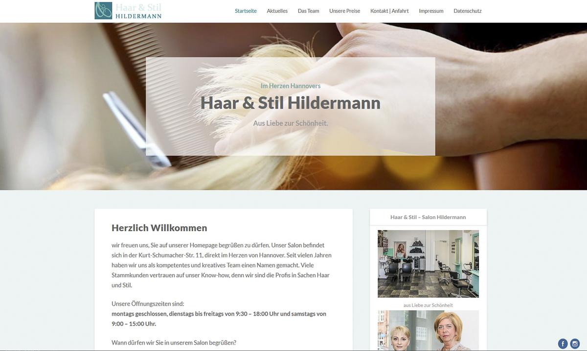 Webdesign für Haar und Stil Friseursalon Hannover - Kerstin Geisthardt