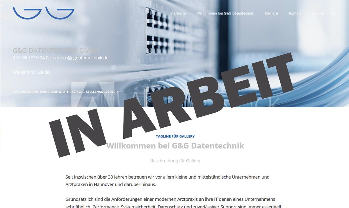 Webdesign für G&G Datentechnik GmbH, Gehrden - Kerstin Geisthardt