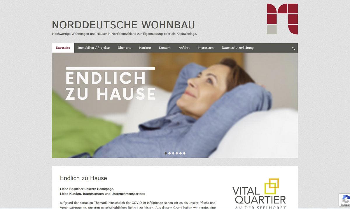 Webdesign für Norddeutsche Wohnbau - Kerstin Geisthardt