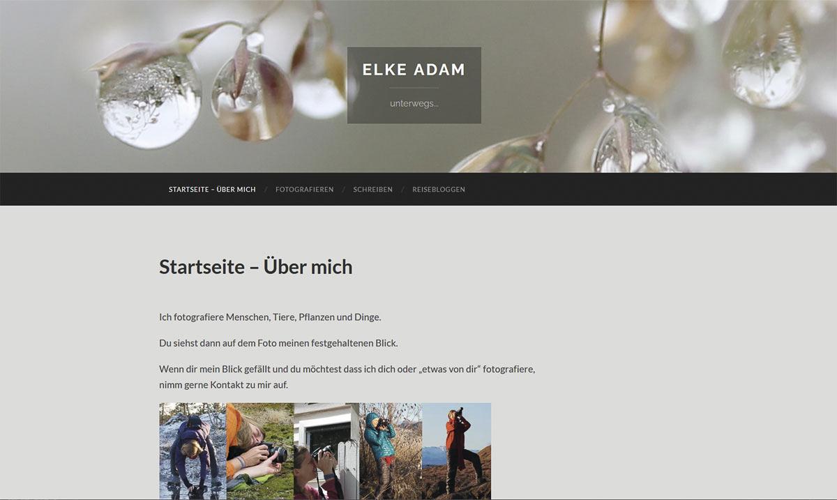 Webdesign für Elke Adam Hannover - Kerstin Geisthardt