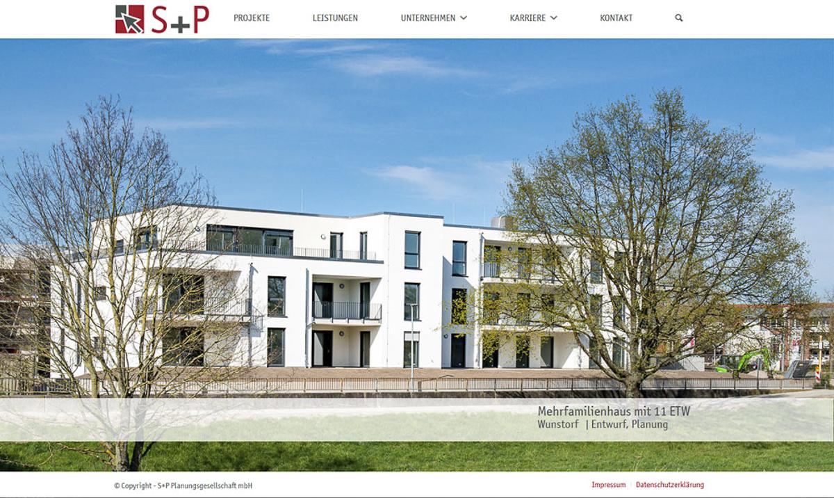 Webdesign für S+P Planungsgesellschaft Hannover - Kerstin Geisthardt